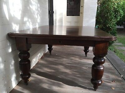 Rare Vintage Large Extendable Solid Wooden Dining Table