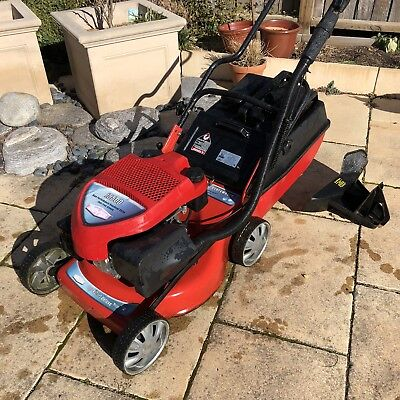 ROVERi5500 4 stroke petrol mower with mulching attachment and catcher