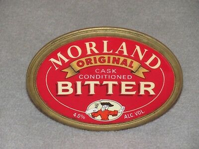 Morland Bitter Beer English Pub / Bar Solid Brass Tap Badge Decal Pump Clip