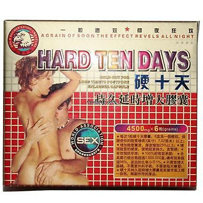 Mens Sex Herbal Suppliment Keeps Hard For Many Days 6 Pill Pack