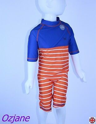 1936fb4b Baby Boys Toddler Uv Upv Spf 50+ Sun Protection Swim Suit 12 To 18 Mnths
