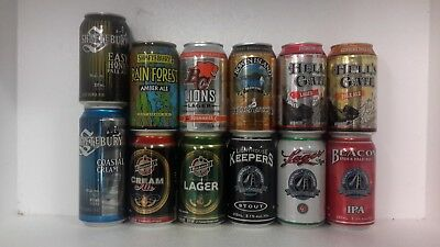 12 Different Craft Beer Cans from various Breweries in Canada
