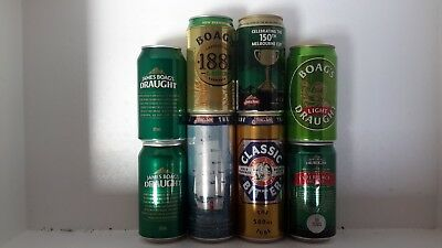 8 Different Boags Beer Cans