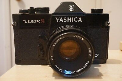 Yashica TL ELECTRO x SLR camera with lenses inluding 400 mm tele