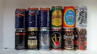 Commemorative Beer Cans from various breweries in New Zealand