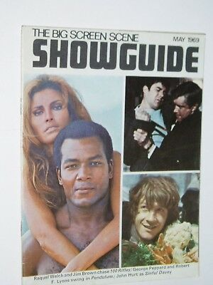 SHOWGUIDE film magazine..(May 1969)..RAQUEL WELCH..,GEORGE PEPPARD..FREE POSTAGE
