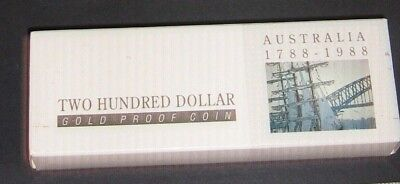 Empty Box and Certificate for Proof 1988 2 Hundred Dollar Coin