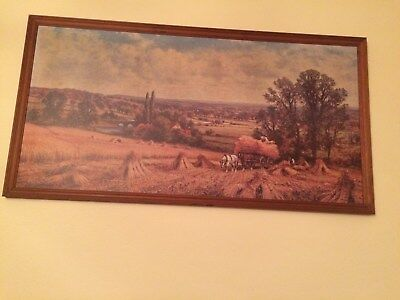 large 70's era wall picture country scene