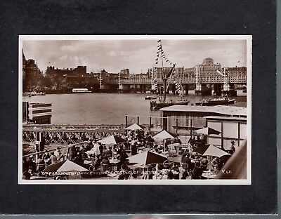 """The """"51"""" Bar by Thames Pavilion Festival of Britain 1951 postcard"""