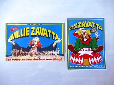 lot 2 Affiches CIRQUE WILLIE ZAVATTA
