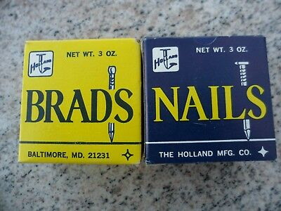 Vintage Lot of 2 Box Holland Nails Brads String Art Baltimore MD New