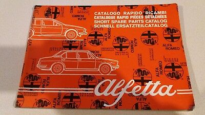 Alfa Romeo GTV Dealer Parts Manual