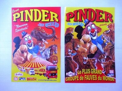 lot 2 Affiches CIRQUE PINDER JEAN RICHARD