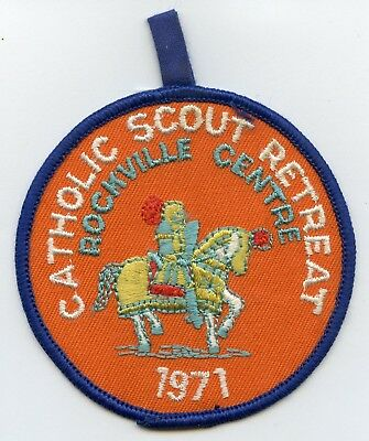 Vintage BSA Nassau Patch 1971 Catholic Scout Retreat Rockville Centre Nice Grade