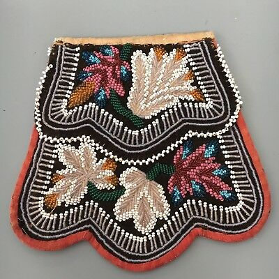 Native American Indian Bead Work Bag Woodland Indian