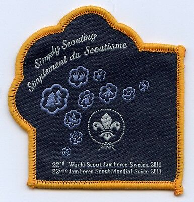 Sweden Patch Official 22th World Scout Jamboree 2011 Badge High Grade !!!