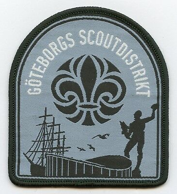 Sweden Swedish Patch Scout Goteborg Scout District Badge Nice Grade !!!