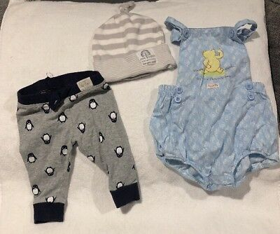 3 Items Leggings Winnie The Pooh Romper 1 Unisex  Sprout 000 Pumpkin Patch Hat