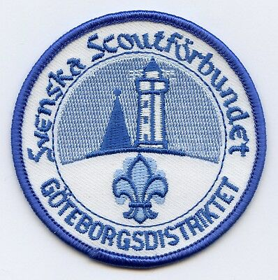 Sweden Swedish Patch Scout Goteborg Scout District Badge Nice Grade !!