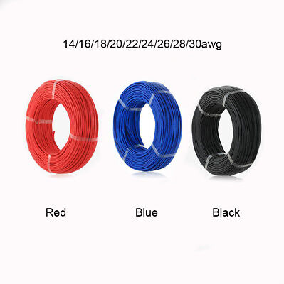 Flexible AWG Silicone Soft Wire Cable 14/16/18/20/22/24/26/28/30awg UL3239 Color