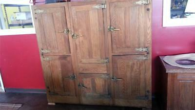 Stunning Large Antique Oak Icebox From Hotel - Delivery Available