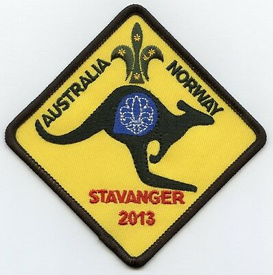 Australia Norway Patch Scout Jamboree 2013 Badge High Grade !!!