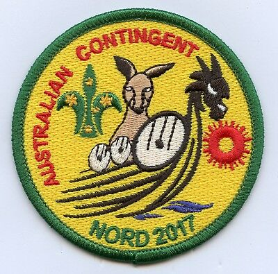 Norway Patch Scout Jamboree Nord 2017 Australian Contingent Badge High Grade !!!