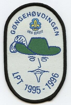 Denmark Danish Scout Patch Gongehovdingen LPT 1995-1996 Badge High Grade !!!
