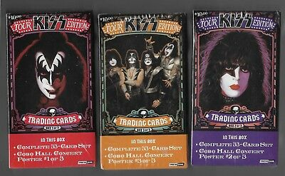 Press Pass Kiss Tour Edition 33 Card Sets 1,2,&3 With Mini Tour Posters Sealed