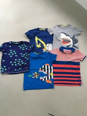 Mini Boden Boys Age 6-7 T Shirt Bundle And Joules (4xboden,1xjoules)