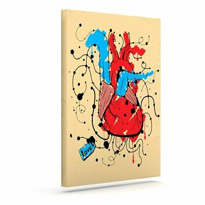 East Urban Home 'Heart' Graphic Art Print on Canvas