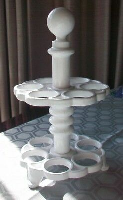 Victor Robert Welch Ivory White Cast Iron Egg Stand - Rack - Holder - 12 Eggs