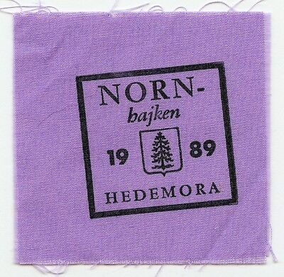 Sweden Swedish Scout Patch Nord Bajken Hedemora 1989 Badge Nice Grade !!!