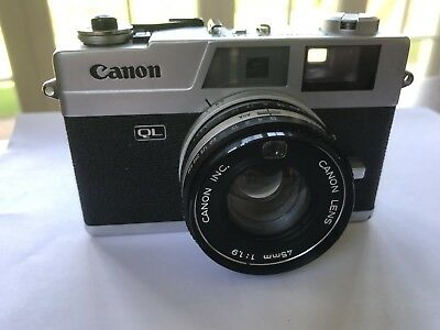 Canon Canonet QL19  45mm 1:1.9 35mm Film Camera