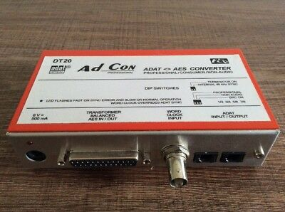 Friend-Chip DT20 AD-CON  ///  Professional 8-Channel ADAT <> AES/EBU Converter
