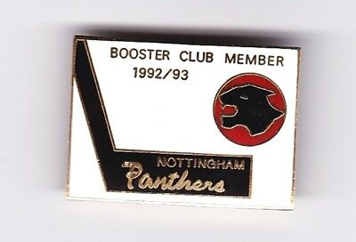 1992/93 Nottingham Panthers Booster Club Member's Badge