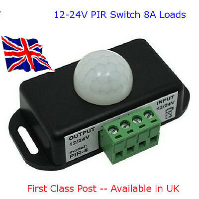 DC 12V-24V 8A Deluxe Automatic Infrared PIR Motion Sensor Switch For LED light