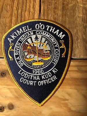 Arizona State Police, Gila Indian Reservation Police, Court Bailiff patch