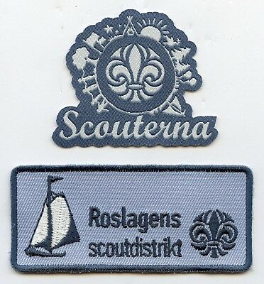Sweden Swedish Scout 2 Patch Roslagens Badge Nice Grade !!!