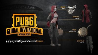 WHOLE SET - PUBG Wasteland Collection Exclusive Skins PGI Berlin 2018