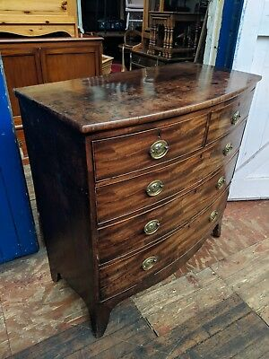 Edwardian Bow Front Drawers