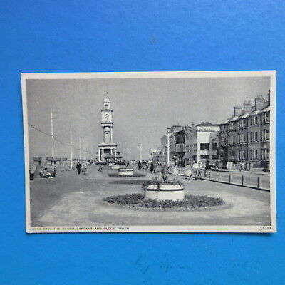 Old Postcard of Herne Bay, the Tower Gardens  and Clock Tower.