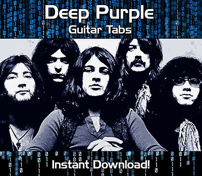 Deep Purple Rock Guitar Tab Tablature Download Song Book Software Tuition