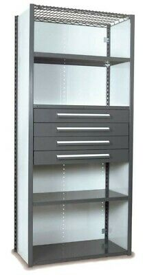"Equipto V-Grip 84"" Shelving with Drawers Unit"