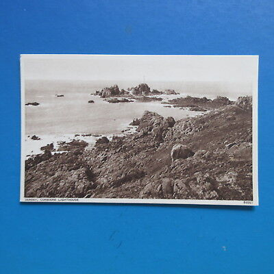 Old Postcard of  Jersey. Corbiere Lighthouse.