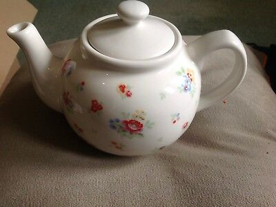 Beautiful Looking Cath Kidston Fine China Sprig Tea Pot Condition Lid Has Damage