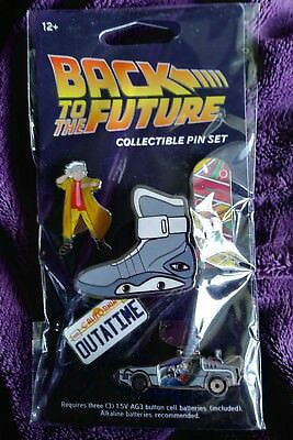 Back to the Future Collectible Pin Set Set of 5 Pins