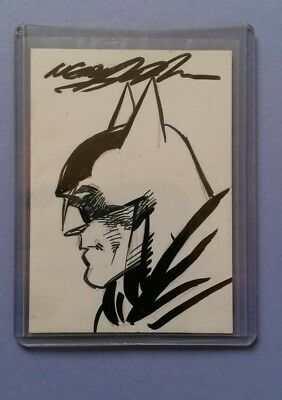 Original drawing -  sketch card by Neal Adams Batman 75th Anniversary