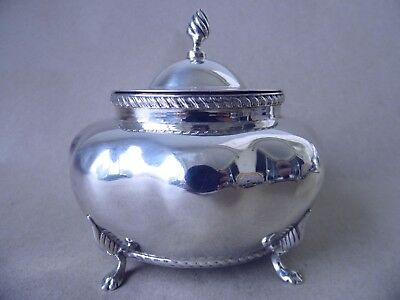 Beautiful Victorian Sterling Silver Tea Caddy 1900