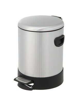 HomeZone Stainless Steel 1.32 Gallon Step On Trash Can